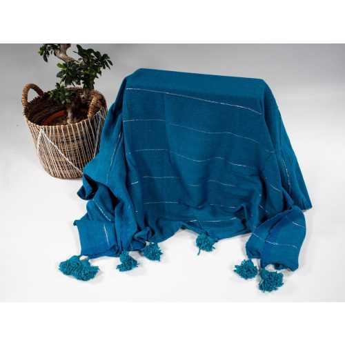 Plaid Bleu Turquoise