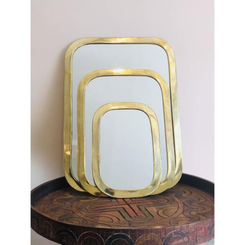 Miroir Laiton épais Rectangle