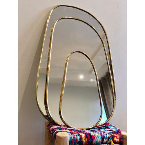 Miroir en laiton  Allongé