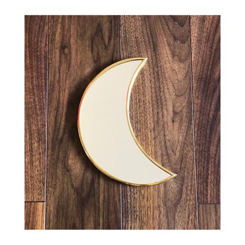 Miroir Lune en laiton