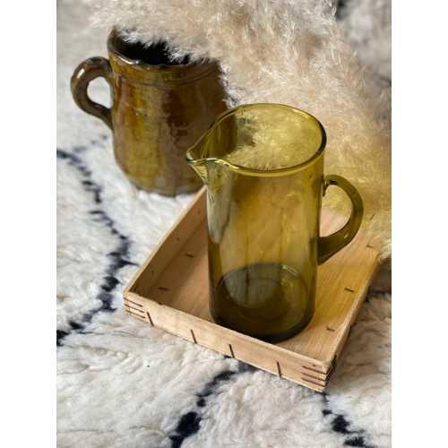 Carafe en Verre beldi – vert olive
